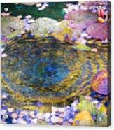 Agape Gardens Autumn Waterfeature II Acrylic Print