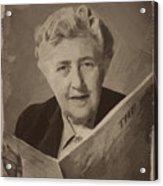 Agatha Christie 3 Acrylic Print