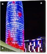 Agbar Tower In Barcelona Acrylic Print