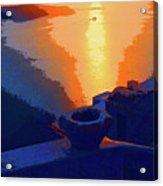 Agean Sunset Acrylic Print