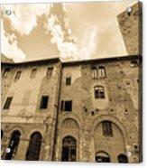Aged San Gimignano Acrylic Print