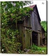 Aged Wood Barn Acrylic Print