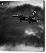 Aggressor #pacafdemo Viper Screaming Under Clouds Acrylic Print
