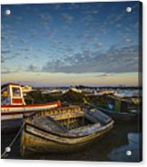Aging Boats On Trocadero Pipe Puerto Real Cadiz Spain Acrylic Print
