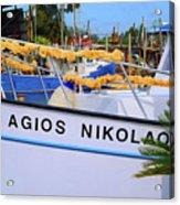 Agios Nikolaos Acrylic Print