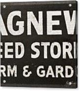 Agnew Seeds Roanoke Virginia Acrylic Print