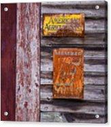 Memberships Acrylic Print