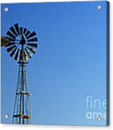 Agricultural Windmill Acrylic Print