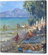 Agrilesa Beach Athens  Acrylic Print