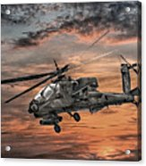 Ah-64 Apache Attack Helicopter Acrylic Print by Randy Steele