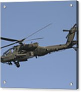 Ah-64 Apache In Flight Over The Baghdad Acrylic Print