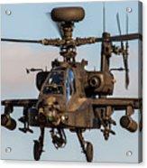 Ah64 Apache Flying Acrylic Print by Ken Brannen