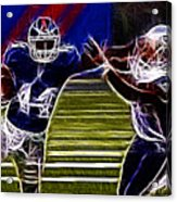 Ahmad Bradshaw Acrylic Print by Paul Ward