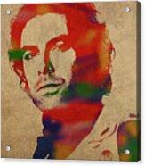 Aidan Turner As Poldark Watercolor Portrait Acrylic Print