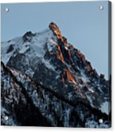 Aiguille Du Midi Chamonix French Alps Acrylic Print by Pierre Leclerc Photography