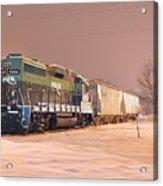 Aikr Gp30 In Snow Acrylic Print
