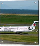 Air Canada Express Crj Taxis Into The Terminal Acrylic Print