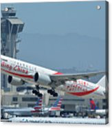 Air China Boeing 777-39ler B-2035 Smiling China Los Angeles International Airport May 3 2016 Acrylic Print