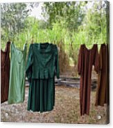 Air Dried Laundry Acrylic Print