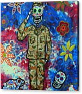 Air Force Day Of The Dead Acrylic Print