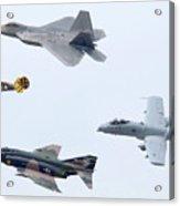 Air Force Heritage Flight Luke Afb Arizona March 19 2011 Acrylic Print