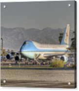 Air Force One In Palm Springs Acrylic Print