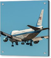 Air Force One On Final Approach Into Charleston South Carolina Acrylic Print