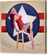 Air Force Pinup With Calypso Jean Acrylic Print