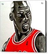 Air Jordan Raging Bull Drawing Acrylic Print