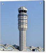 Air Traffic Control Tower At Reagan National Airport Acrylic Print by Brendan Reals