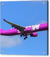 Airbus A330-343e Wow Air Acrylic Print
