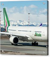 Airbus A330 Alitalia With New Livery  Acrylic Print