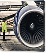 Airbus Engine Acrylic Print by Stelios Kleanthous