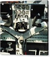 Aircraft Airplane Control Panel Acrylic Print