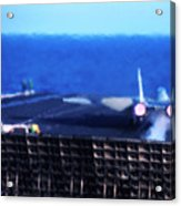 Aircraft Carrier F-14 Launch Acrylic Print
