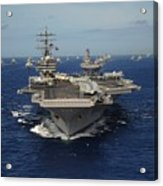 Aircraft Carrier Uss Ronald Reagan Acrylic Print by Everett
