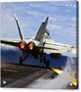 aircraft military F 18 Hornet Acrylic Print