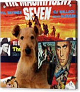 Airedale Terrier Art Canvas Print - The Magnificent Seven Movie Poster Acrylic Print