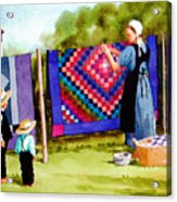 Airing The Quilts Acrylic Print