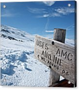 Airline Trail - White Mountains New Hampshire Acrylic Print