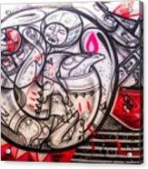 Airplane Grafitti Acrylic Print