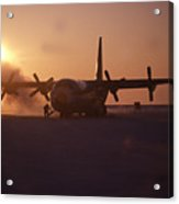 Airplane In The High Arctic Acrylic Print