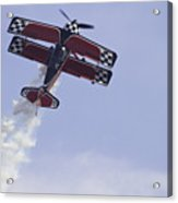Airplane Performing Stunts At Airshow Photo Poster Print Acrylic Print
