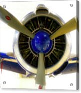 Airplane Propeller And Engine T28 Trojan 01 Acrylic Print