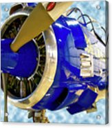 Airplane Propeller And Engine T28 Trojan 02 Acrylic Print