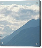Airplane Taking Off Over The Alpine Mountains Acrylic Print