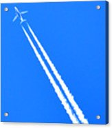 Airplane Thousands Of Feet In The Air Acrylic Print