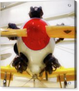 Airplane Wooden Propeller And Engine Pt 22 Recruit 02 Acrylic Print