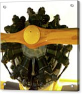 Airplane Wooden Propeller And Engine Timm N2t-1 Tutor Acrylic Print