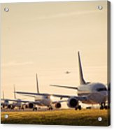 Airplanes Lining Up For Take-off Acrylic Print